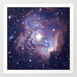 Deep Blue Galaxy Art Print