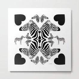 Zebra love Metal Print