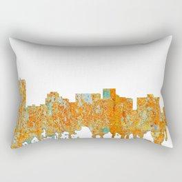 Arlington, Texas Skyline - Rust Rectangular Pillow