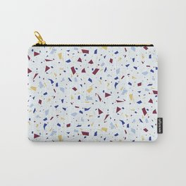 Pale Blue with Purple and Yellow Texture - Terrazzo - Geometric Abstract Granite Marble Carry-All Pouch