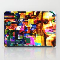 lindsay lohan iPad Cases featuring Lindsay-Alice-Court-Glitch by Peter Marsh