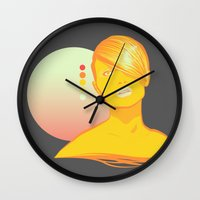 vodka Wall Clocks featuring Vodka Sunrise  by PKLdesigner