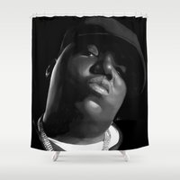notorious Shower Curtains featuring Notorious B.I.G. by SoulDeep