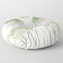 Pond of tranquility Floor Pillow