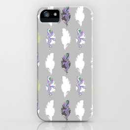Inky Feathers iPhone Case
