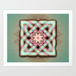 Celtic Chocolate Mint Raspberry Art Print