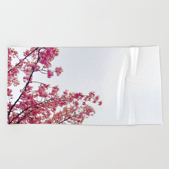 watercolor bloom Beach Towel