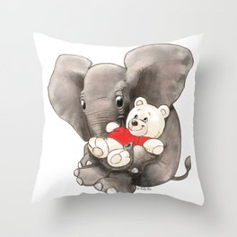 Baby Boo with Teddy Throw Pillow