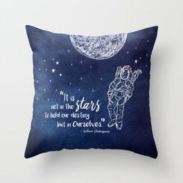 Shakepeare Not in the Stars Throw Pillow