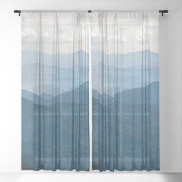 Smoky Mountain National Park Nature Photography Sheer Curtain