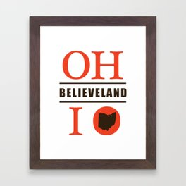 Believeland Framed Art Print