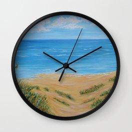 Calm Ocean Painting, Art Prints, Impressionism Artwork Wall Clock