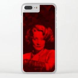 Marlene Dietrich - Celebrity (Photographic Art) Clear iPhone Case