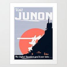 Final Fantasy VII - Visit Junon Propaganda Poster Art Print