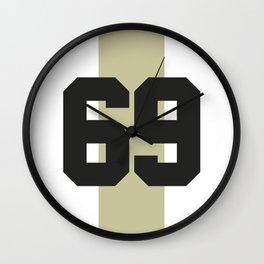 69 race Wall Clock