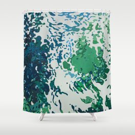 Waiting for Manatees Shower Curtain