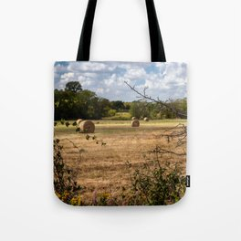 Round Bales in a Texas Pasture Tote Bag