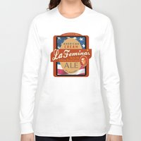 ale giorgini Long Sleeve T-shirts featuring American Cream Ale by La Femina Brewing Co.