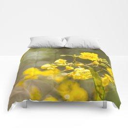 Popcorn Flower Bokeh Delight Comforters