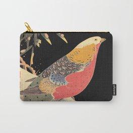 Golden Pheasant in the Snow Itô Jakuchû oriental bird art  Carry-All Pouch