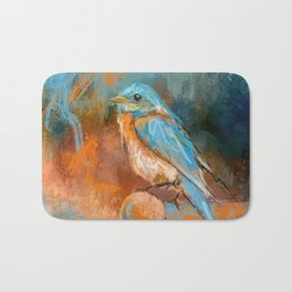 A Splash Of Bluebird Bath Mat