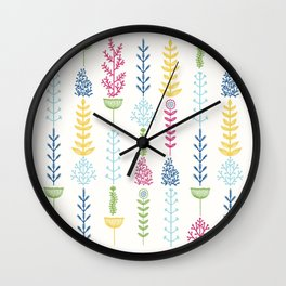 Vertical Nature Wall Clock