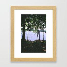 Break in the tree Framed Art Print