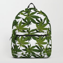 Cannabis Leaf - White Backpack