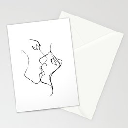 Lovers - Minimal Line Drawing  11 Stationery Cards