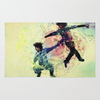 gravity Area & Throw Rugs featuring Gravity by hbCreative