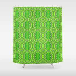 Lime Green 60's Retro Pattern Shower Curtain