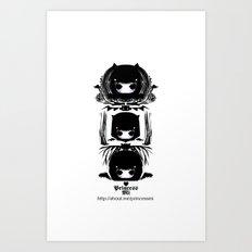Three devil heads Art Print