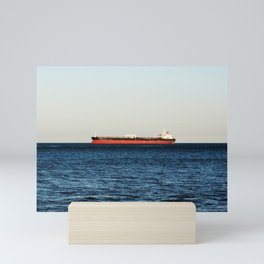 Cargo Ship Seascape Mini Art Print