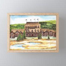 Old Faithful Inn at Yellowstone Art Framed Mini Art Print