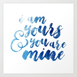 ACOTAR - YOURS AND MINE Art Print