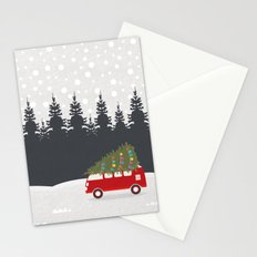 Driving Home for Christmas Stationery Cards