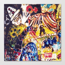 LIFE is a Circus           by Kay Lipton Canvas Print