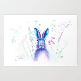 Messy Bunny Art Print