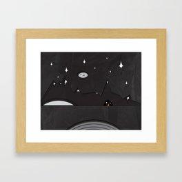 Paper Landscape Framed Art Print