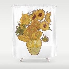Sunflowers of Van Gogh Shower Curtain