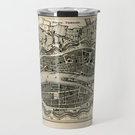 Plan von Bremen Travel Mug