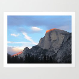Sunset on Half Dome - Yosemite, Ca. July 2019 Art Print