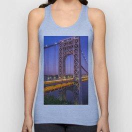 World Famous Historic George Washington Bridge Hudson River New York City Ultra HD Unisex Tank Top