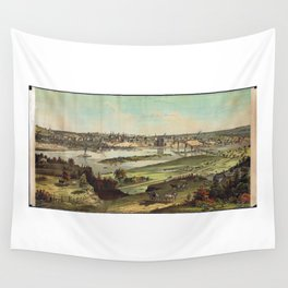 Aerial View of St. Paul, Minnesota (1874) Wall Tapestry