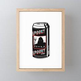 Spooky Soda Can Dark Art Beverage Devil's Drink Framed Mini Art Print