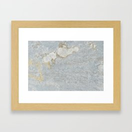 Blueish, rusty and old steel texture Framed Art Print