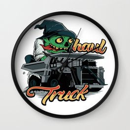 Monster Haul Truck Wall Clock