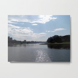 Vistula River, Kraków, Poland Metal Print