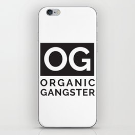 Organic Gangster - Vegan/Natural/Vegetarian iPhone Skin