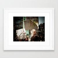 politics Framed Art Prints featuring Politics sucks! by Miguel Pastor